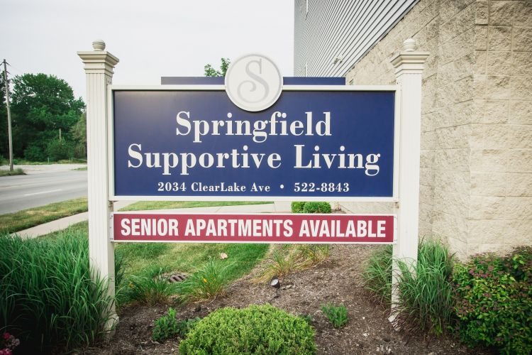 An image of Springfield Supportive Living's outdoor sign.